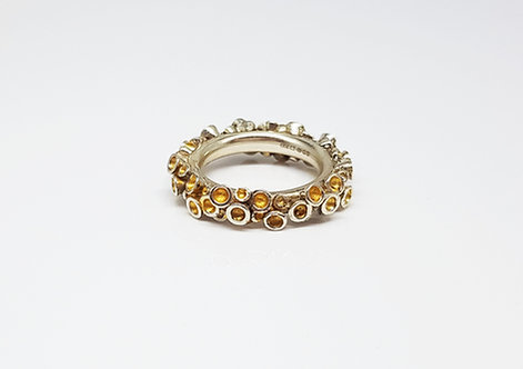Chaotic Cluster Ring With 24ct Gold