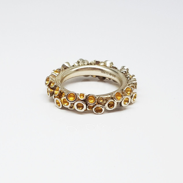 Rebecca Oldfield Chaotic Cluster Ring With 24ct Gold Accents