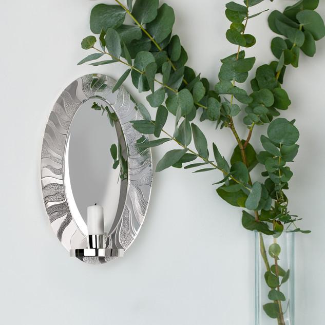 Rebecca Oldfield Britannia Silver Iris Wall Sconce