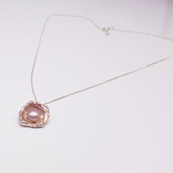 Rebecca Oldfield Perfectly Imperfect Pink Pearl Pendant