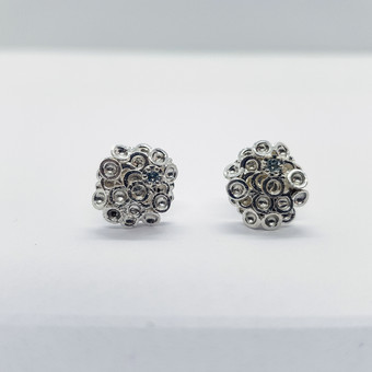 Rebecca Oldfield Large Chaotic  Cluster Ear Studs