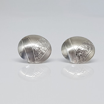 Rebecca Oldfield Chased Structures and Lines Earrings