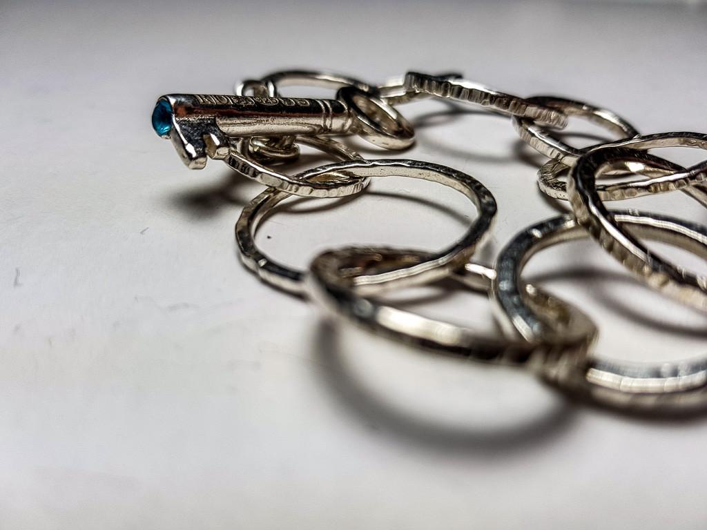 Rebecca Oldfield KeyChain Bracelet & Blue Sapphire