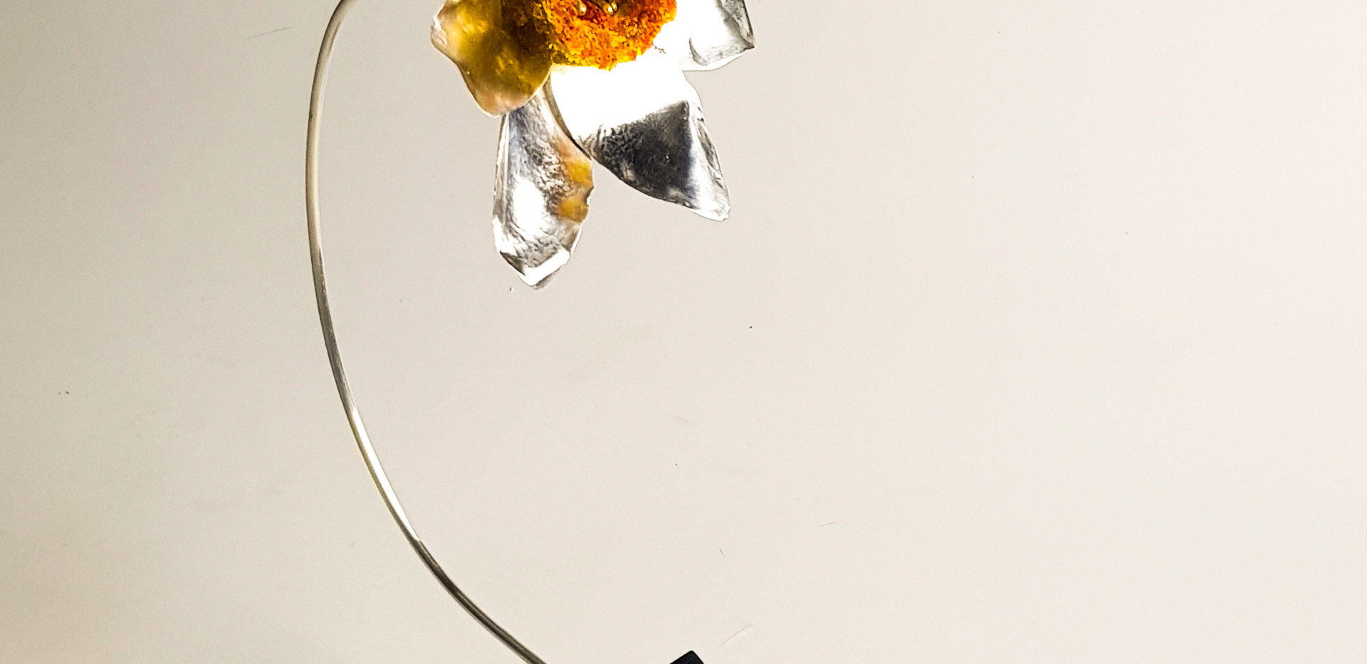 Rebecca Oldfield 4D Silver and Crystal Daffodil