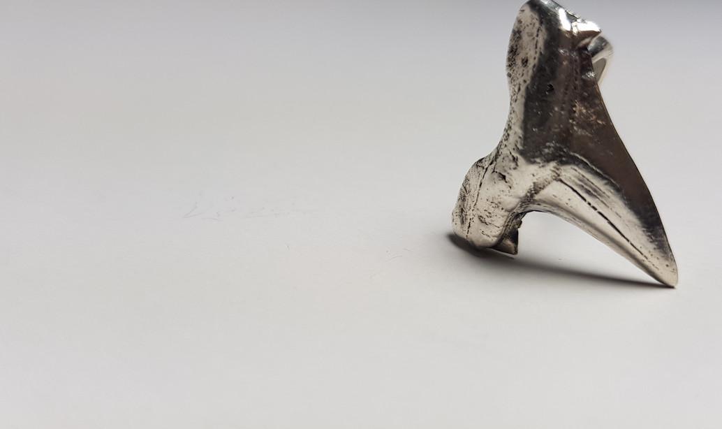Rebecca Oldfield Oxidised Shark Tooth Ring