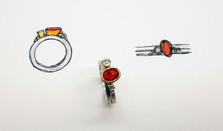 Rebecca Oldfield Fire Opal Bespoke Engagement Ring & Original Designs