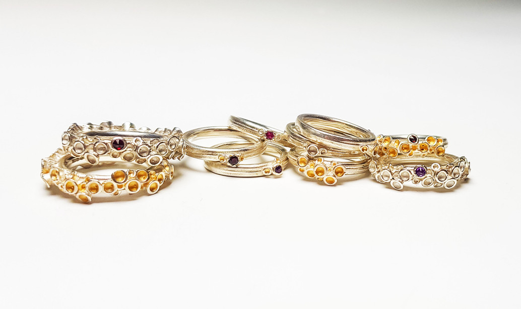 Rebecca Oldfield Chaotic Cluster Ring Collection