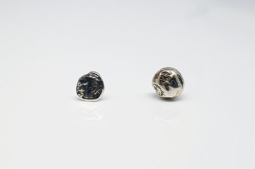 water cast, earrings, perfectly imperfect, mix and match, cardiff, silversmith, cardiff jeweller, silversmiths cardiff