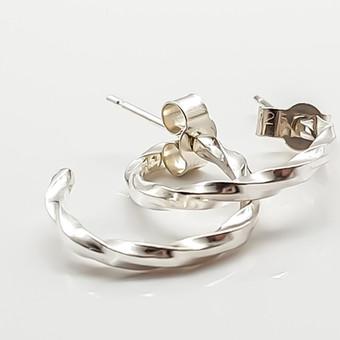 Rebecca Oldfield Simply Twisted Hoop Earrings