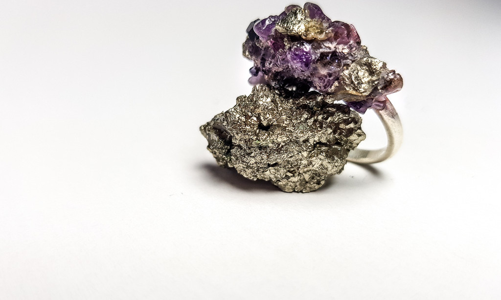 Rebecca Oldfield Amethyst Crushed Crystal  Ring