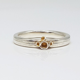 Rebecca Oldfield 4 Point Chaotic Cluster Ring With 24ct Gold