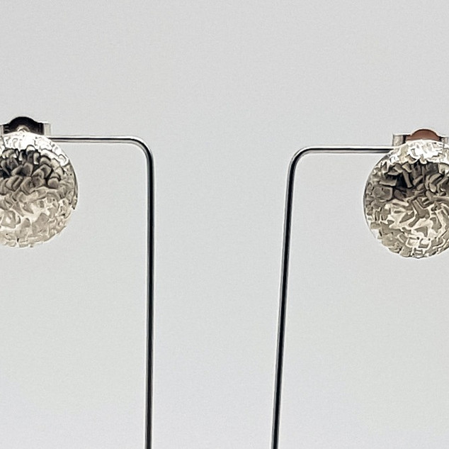 Rebecca Oldfield Chased Textures Domed Earrings