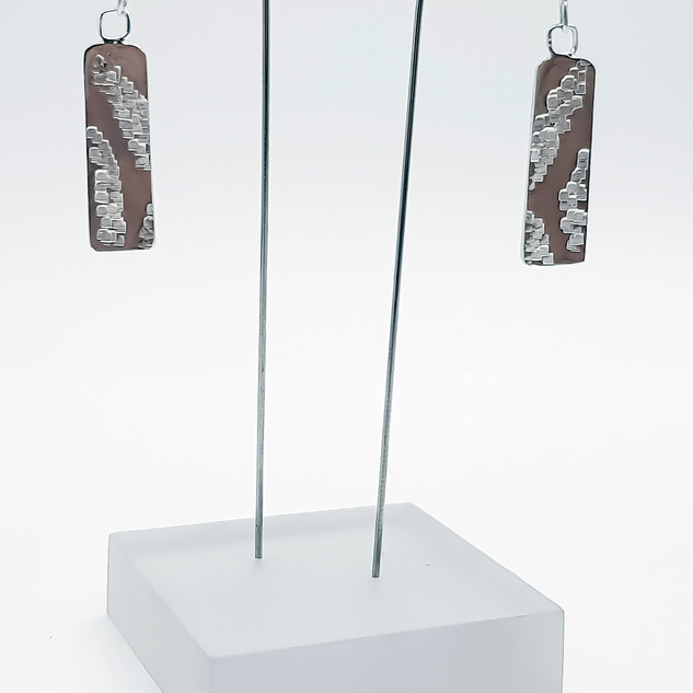 Rebecca Oldfield Chased Textures Dangle Earrings