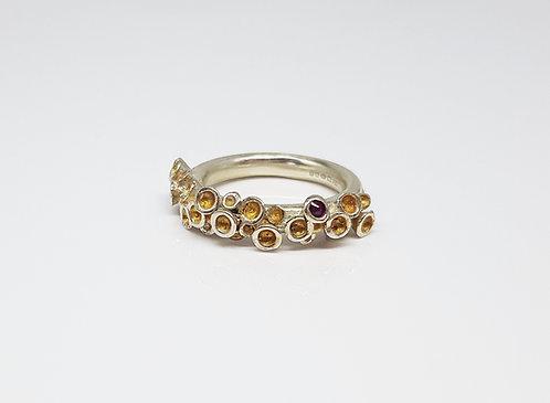 gold, 3d, silver, gemstone, ring, cardiff, rebecca oldfield jewellery, silversmith, cardiff jeweller, silversmiths cardiff