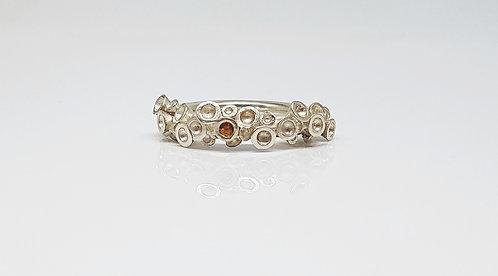 3d printed, silver, gemstone, ring, cardiff, rebecca oldfield jewellery, silversmith, cardiff jeweller, silversmiths cardiff