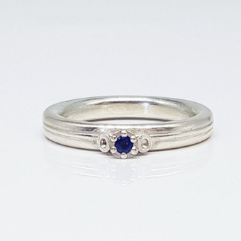 Rebecca Oldfield 3 Point Chaotic Cluster Ring Set With Iolite Gemstone