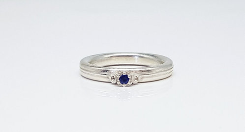 Iolite, silver, gemstone, ring, cardiff, rebecca oldfield jewellery, silversmith, cardiff jeweller, silversmiths cardiff