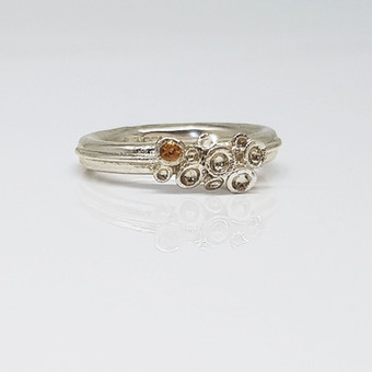 Rebecca Oldfied Quater Chaotic Cluster Ring Set With Citrine