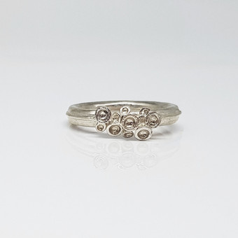 Rebecca Oldfield Quater Chaotic Cluster Silver Ring