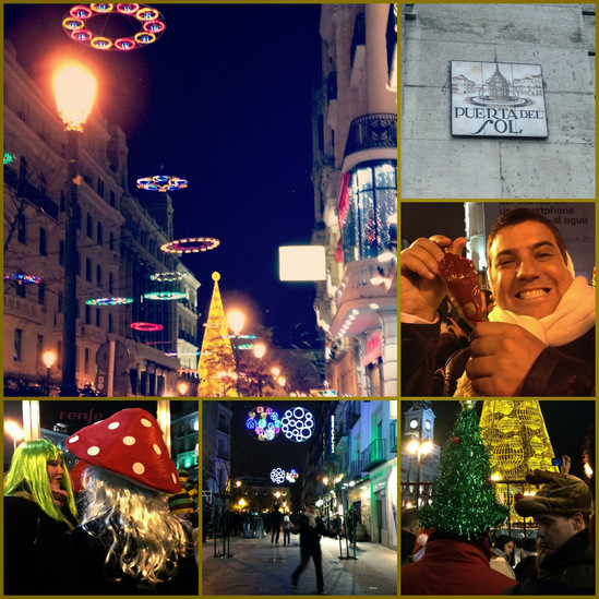Reveillon ou NocheVieja na Puerta del Sol, Madrid