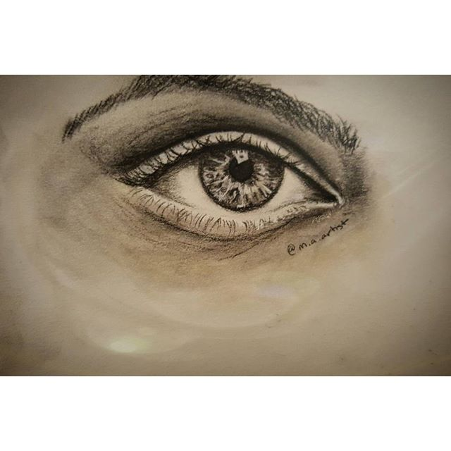 Study on a realistic eye