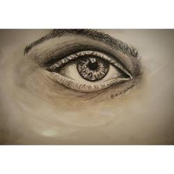 Study on a realistic eye