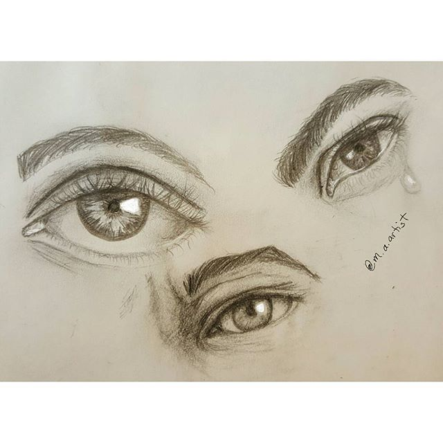 Practice practice practice__#sketch #sketch_daily  #mechanicalpencil #doodles #eyes #arts_help  #art