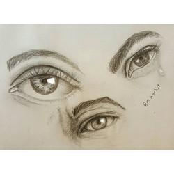 Practice practice practice__#sketch #sketch_daily  #mechanicalpencil #doodles #eyes #arts_help  #art