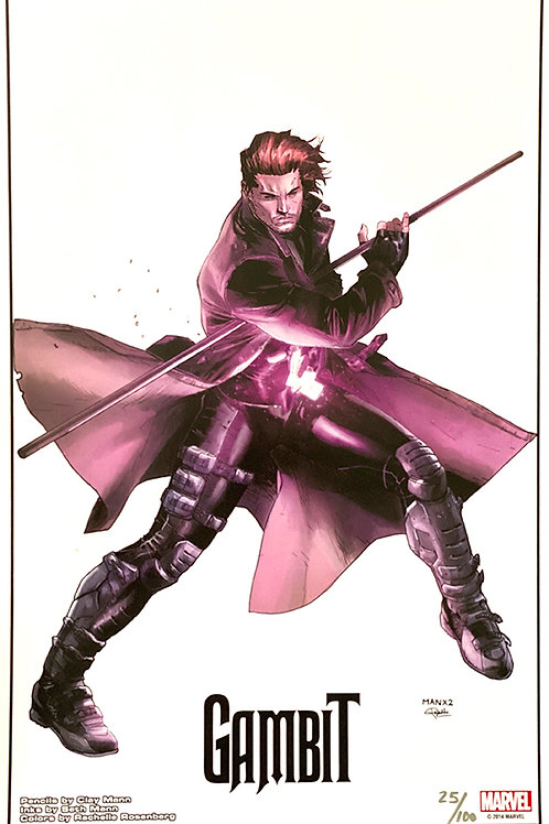 Limited Edition Marvel Gambit Print