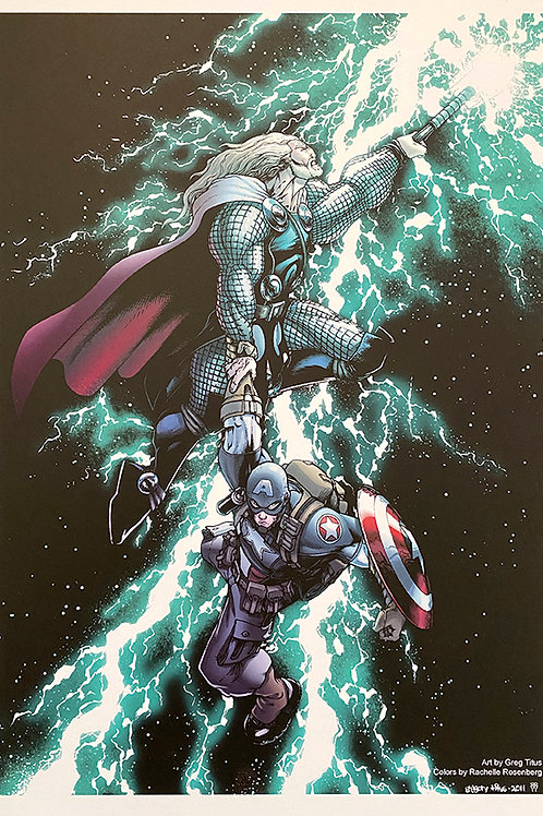 Captain America and Thor Print