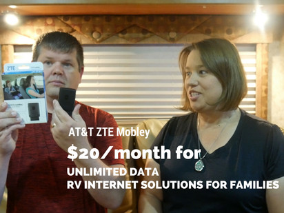 RV Family pays $20 a month for Unlimited Data inside their Motorhome