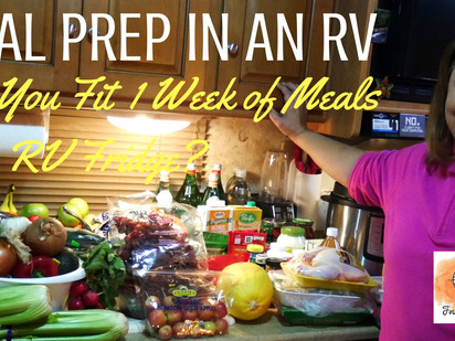 MEAL PREP IN AN RV