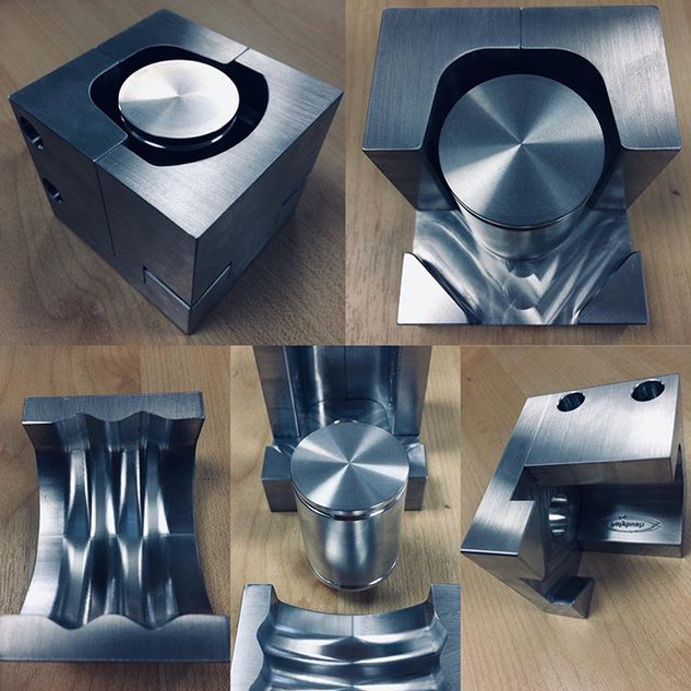 Billet machined 6082 Aluminium mold
