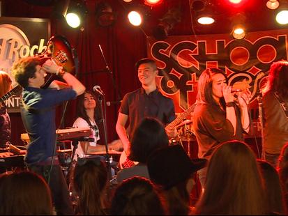 School of Rock Jams at the Famous Hard Rock Café