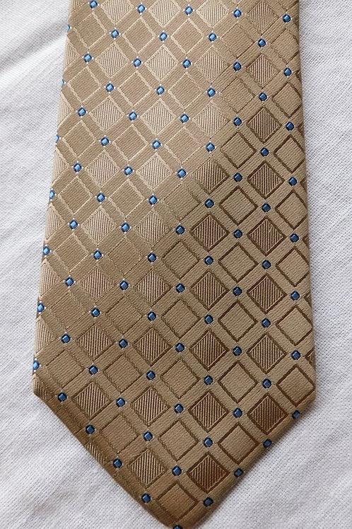 Bob Goodman Taupe Ground Woven Silk Diamonds