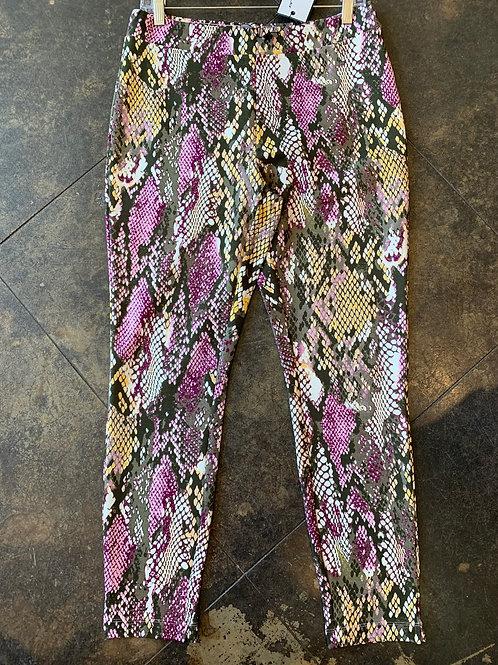Katherine Barclay Pink/Brown Snakeskin pants