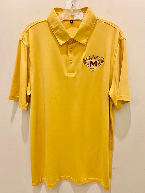 Mardi Gras Polo- Yellow