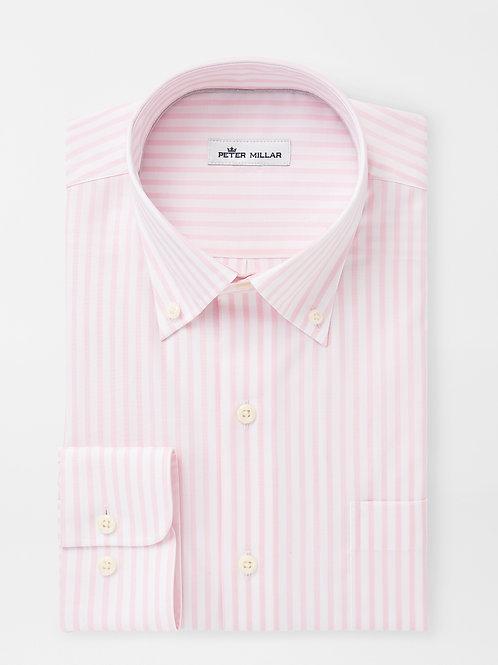 Peter Millar Crown Ease Stretch Caspian Stripe Sport Shirt