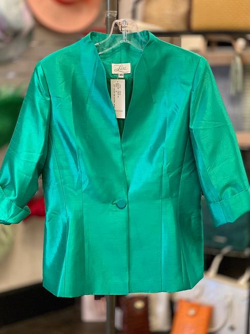Lisa Self Collar Jacket- Green