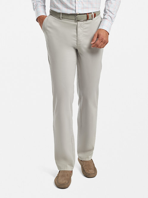 Peter Millar Crown Soft Flat-Front Trousers- Gale