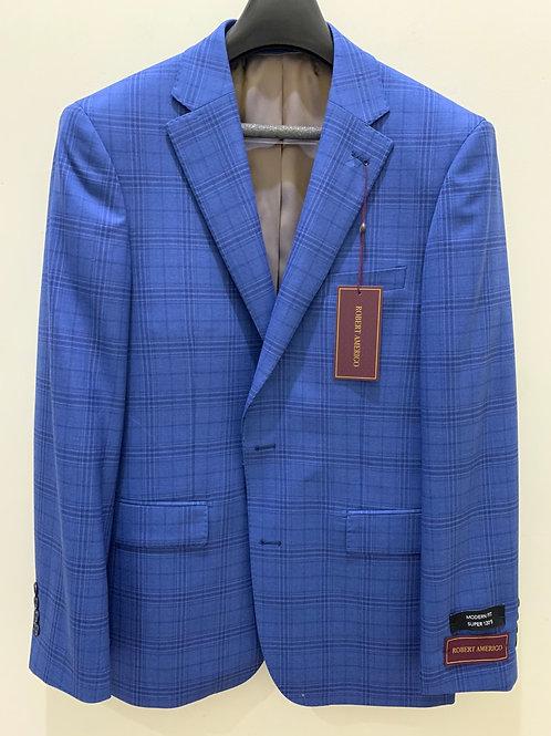 Robert Amerigo Blue Plaid Sport Coat