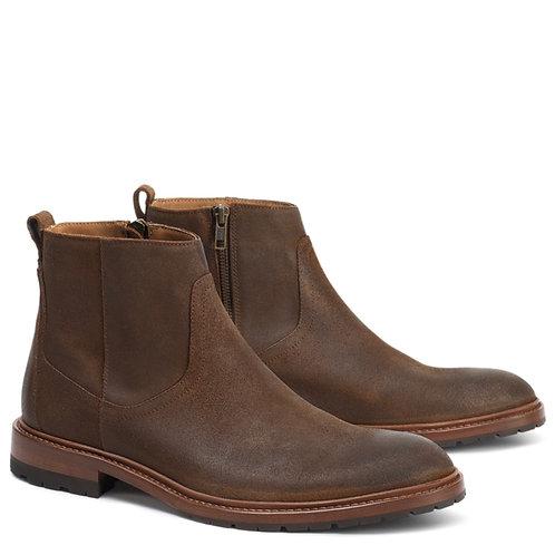 Trask Larkin Boot- Brown Waxed Suede
