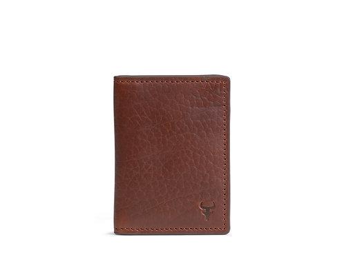 Trask Jackson Passcase Wallet- Saddle Tan American Bison