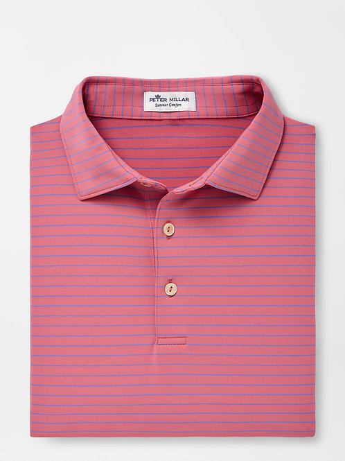 Peter Millar Crafty Performance Polo-Red Ginger