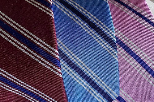 Bob Goodman Woven Silk English Repp Stripe