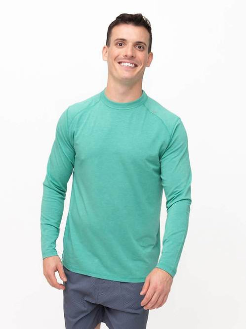 Tasc Carrollton Long Sleeve Tee- Gree