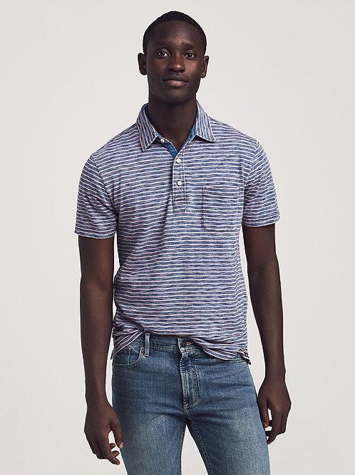 Faherty Brand Indigo Polo