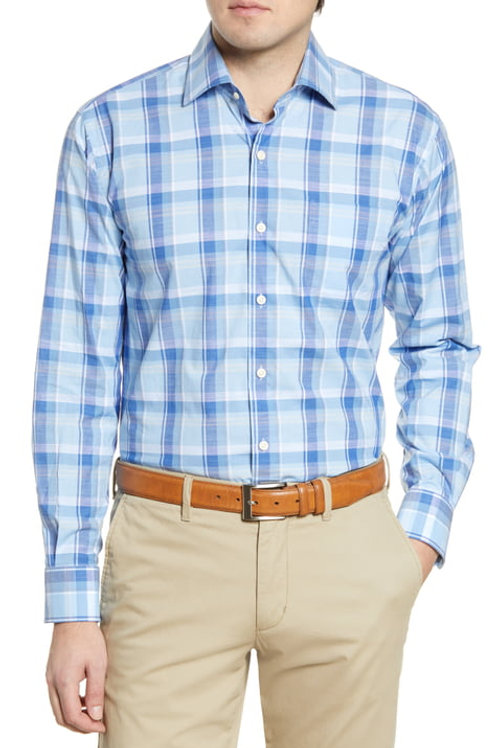 Peter Millar Milo Cotton Blend Sport Shirt