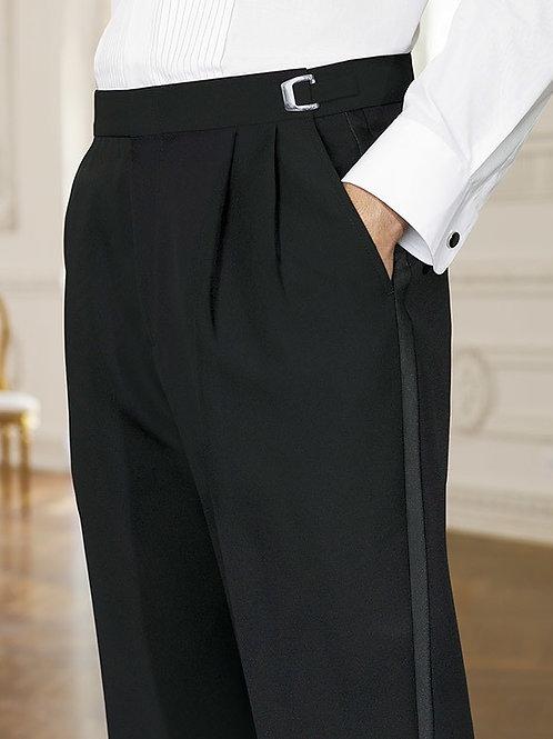 Adjustable Pleated Front Tuxedo Pant