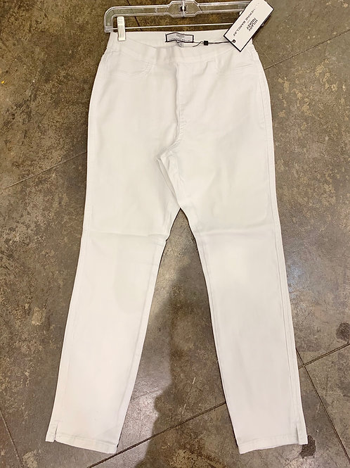 Katherine Barclay White Denim Pull-on Pants